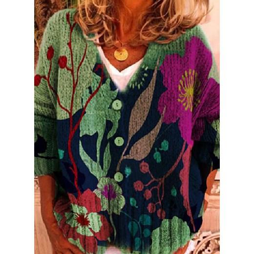Sweter damski Odzież Damska GW wielokolorowy FIDG