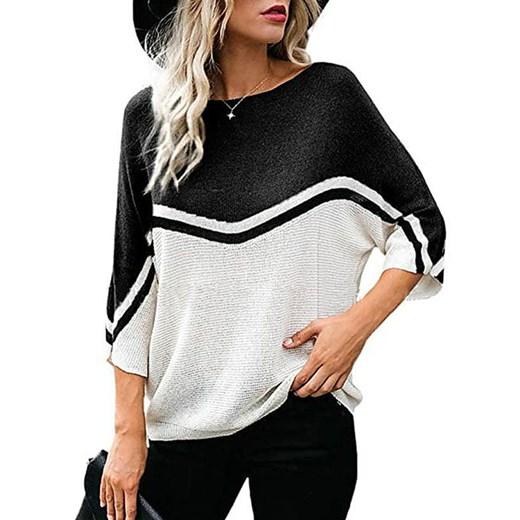 Sweter damski z okrągłym dekoltem Odzież Damska FT ISNG