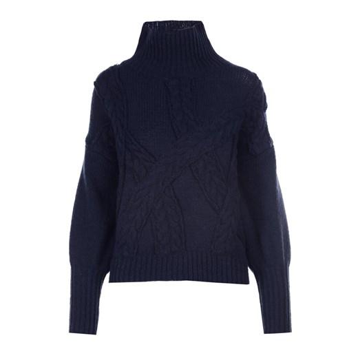 Sweter damski granatowy Born2be Odzież Damska XD granatowy HWGO