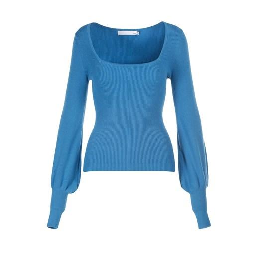 Sweter damski Born2be Odzież Damska ZG niebieski IOIB