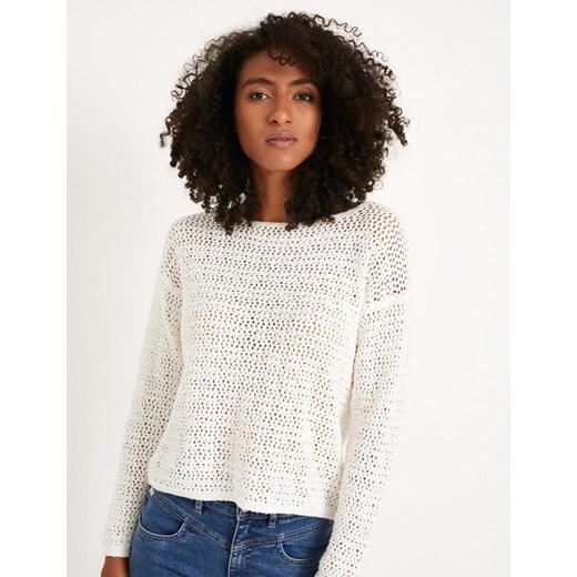Biały sweter damski Diverse Odzież Damska VZ biały KEVW