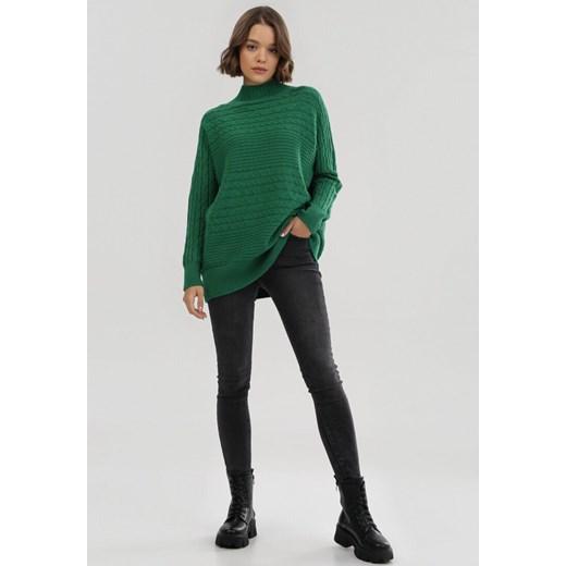 Sweter damski Born2be zielony Odzież Damska KB zielony XUFI