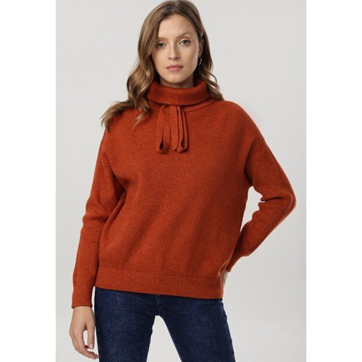 Sweter damski Born2be Odzież Damska OQ czerwony VWUN