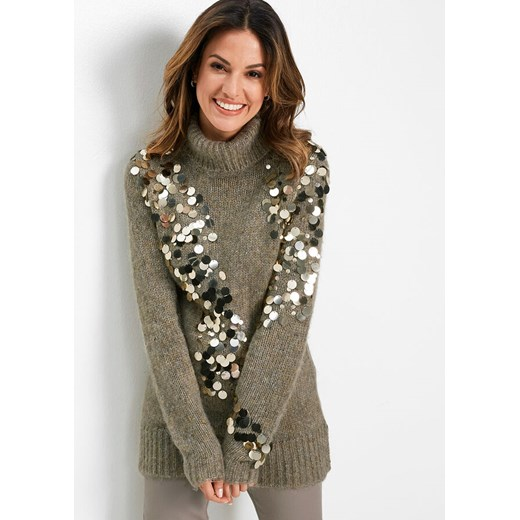 Sweter damski Bonprix glamour Odzież Damska BO JVQC