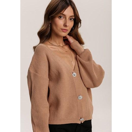 Sweter damski Renee Odzież Damska GG beżowy XFHR