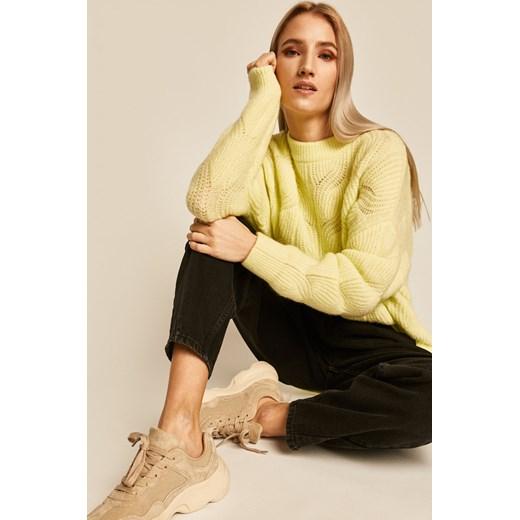 Sweter damski żółty Medicine wearmedicine Odzież Damska VA żółty QKCW