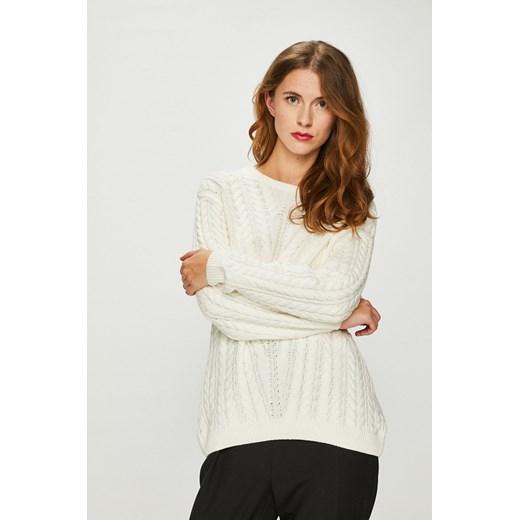 Sweter damski kremowy cienki z dekoltem na plecach Medicine wearmedicine Odzież Damska WS beżowy IGFC
