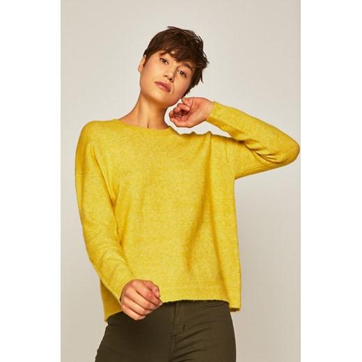 Sweter damski z okrągłym dekoltem żółty Medicine promocyjna cena wearmedicine Odzież Damska IE żółty DJGO