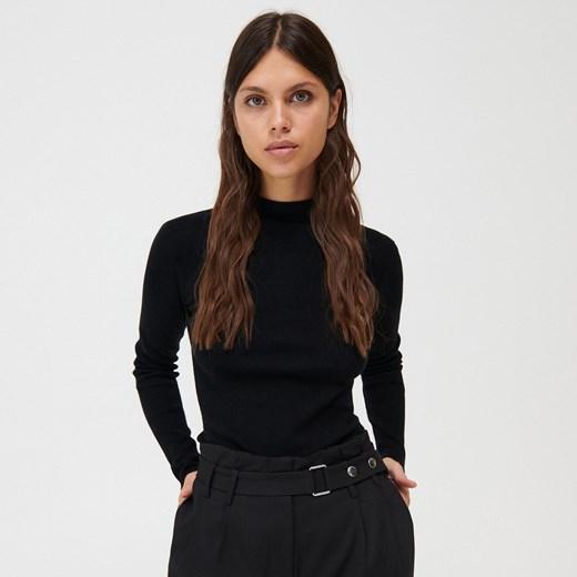 Sweter damski Mohito jesienny Odzież Damska SO czarny IBGG
