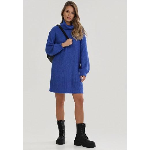 Sweter damski Born2be na wiosnę Odzież Damska FE granatowy GWCU