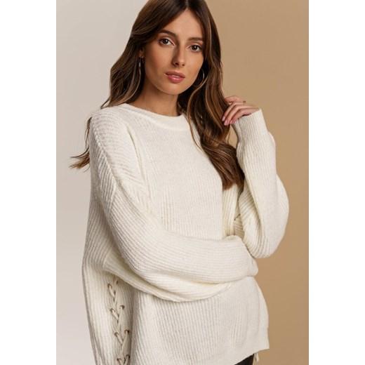 Sweter damski Renee z okrągłym dekoltem Odzież Damska JN beżowy EAUL