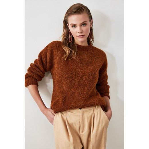 Sweter damski Trendyol Odzież Damska LJ fioletowy RYHR