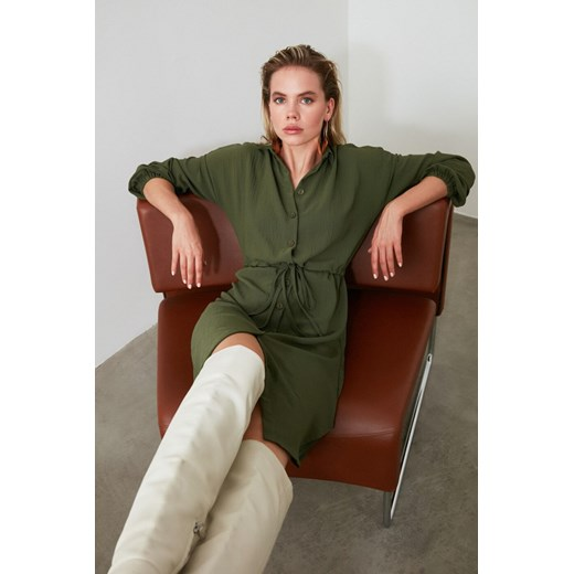 Trendyol Khaki Shirt Dress Trendyol 38 Factcool