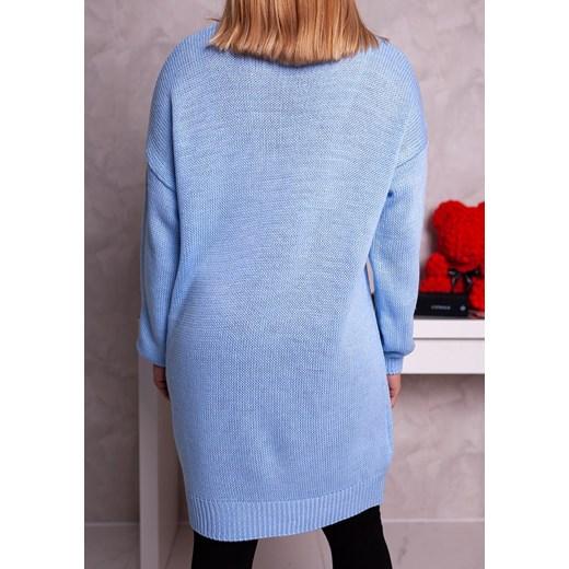 Sweter damski Moda Doris Odzież Damska MS niebieski ETIW