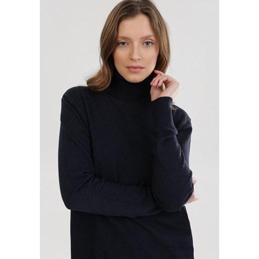 Sweter damski Born2be granatowy Odzież Damska CY granatowy GXJZ