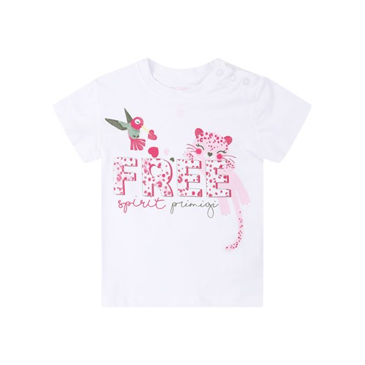 Primigi T-Shirt Jungle Life 45221508 Biały Regular Fit Primigi 18M okazyjna cena MODIVO