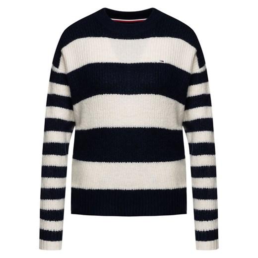 Sweter damski Tommy Jeans wielokolorowy z okrągłym dekoltem Odzież Damska PF wielokolorowy FAYH