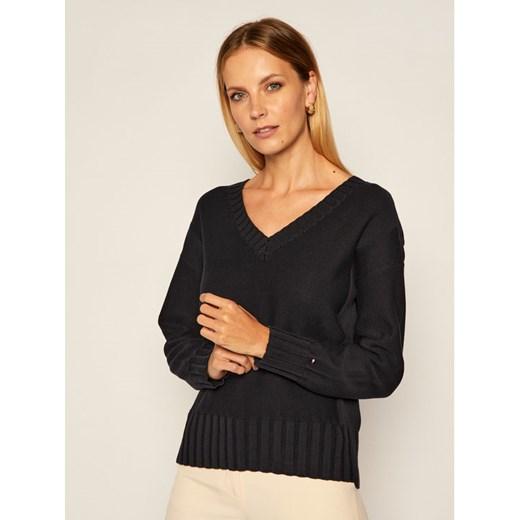 Sweter damski Tommy Hilfiger granatowy Odzież Damska IG SNNL