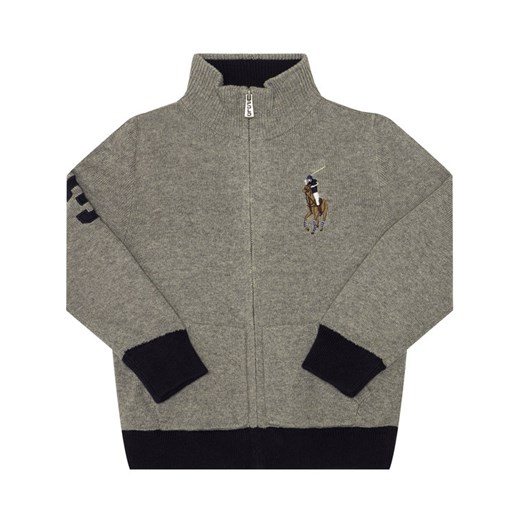Polo Ralph Lauren Sweter 321787062 Szary Regular Fit Polo Ralph Lauren 2_2T promocyjna cena MODIVO