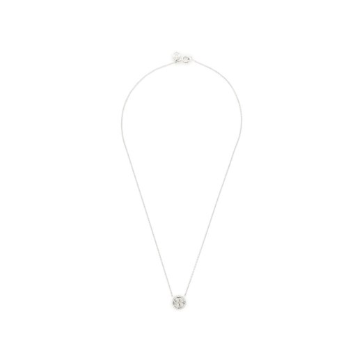 Tory Burch Naszyjnik Crystal Logo Delicate Necklace 53420 Srebrny Tory Burch 00 MODIVO