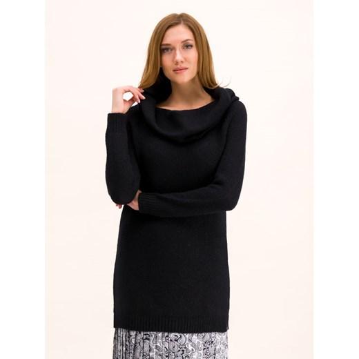 Sweter damski Pennyblack z dekoltem woda Odzież Damska OC czarny DRHJ