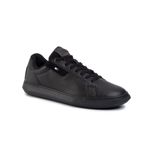 TOMMY HILFIGER Sneakersy Essential Leather Cupsole FM0FM02581 Czarny Tommy Hilfiger 40 okazja MODIVO