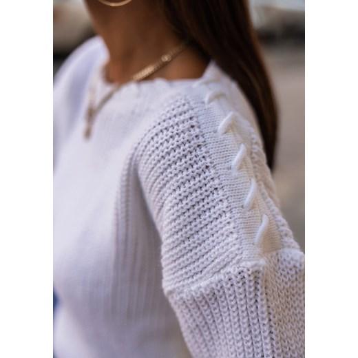 Sweter damski Latika Odzież Damska BI biały ZEFT