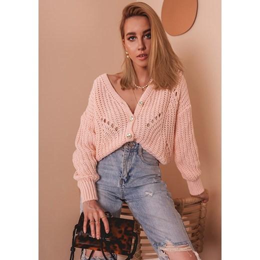 Sweter damski Latika Odzież Damska UC różowy GJQI