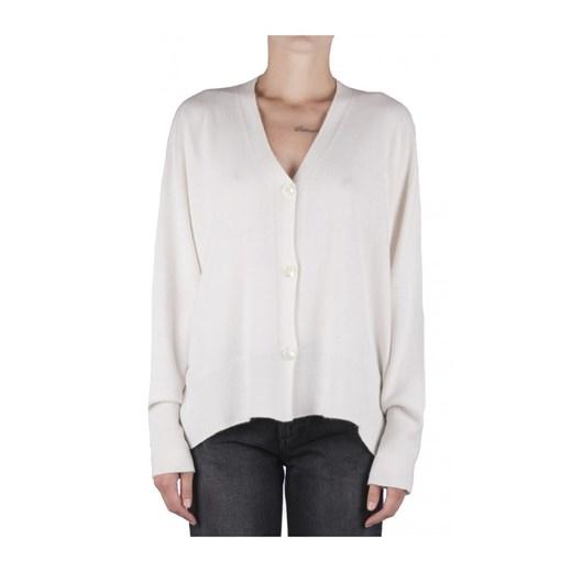 Sweter damski biały Semicouture z dekoltem w serek Odzież Damska LO biały TBIR