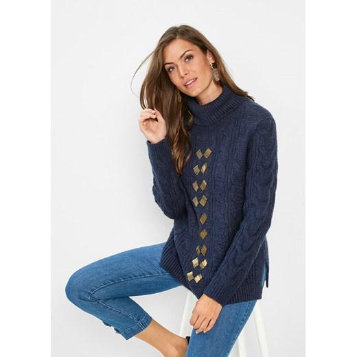 Sweter damski Bonprix zimowy Odzież Damska IE JNGU