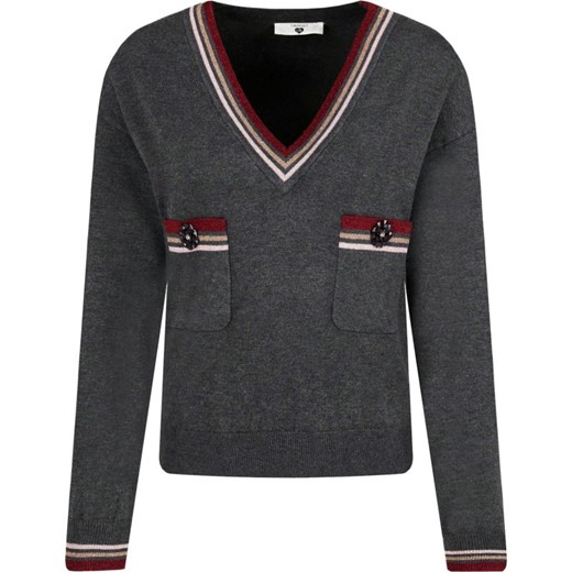 Sweter damski Twin Set z dekoltem v Odzież Damska DY czarny NZJT