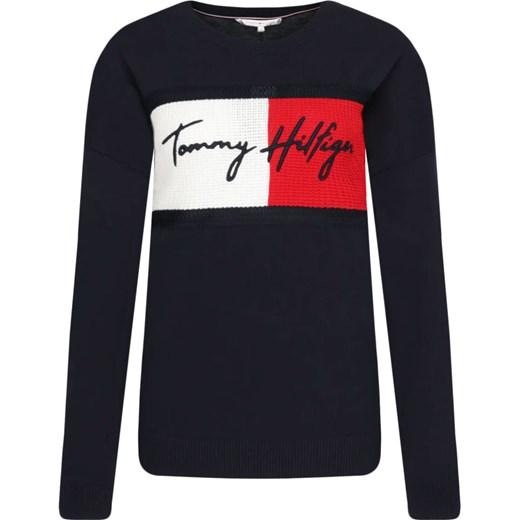 Sweter damski Tommy Hilfiger z okrągłym dekoltem Odzież Damska AW czarny UVUR