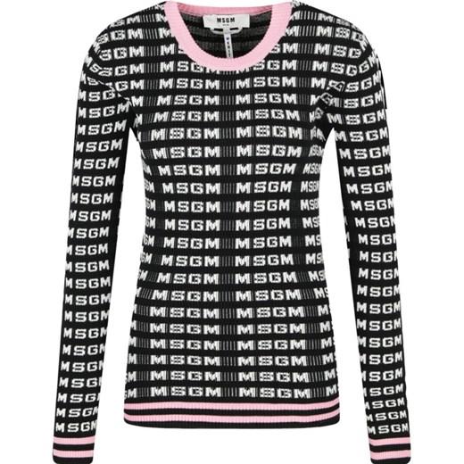 Sweter damski MSGM casual z okrągłym dekoltem Odzież Damska EU LUOM