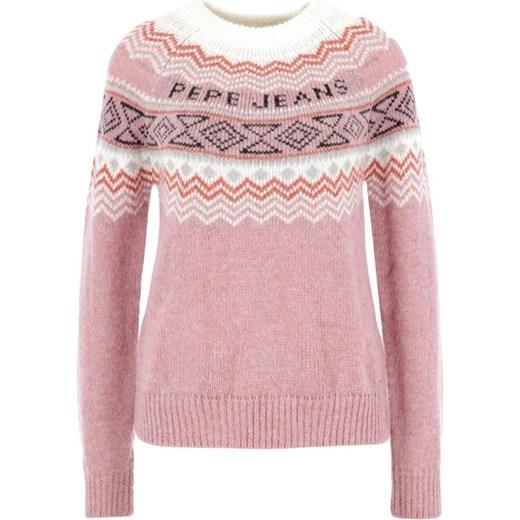 Sweter damski Pepe Jeans casual na zimę Odzież Damska FC różowy MCMT