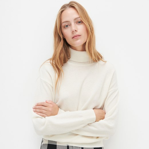 Sweter damski Reserved beżowy wełniany Odzież Damska IG beżowy PXCE