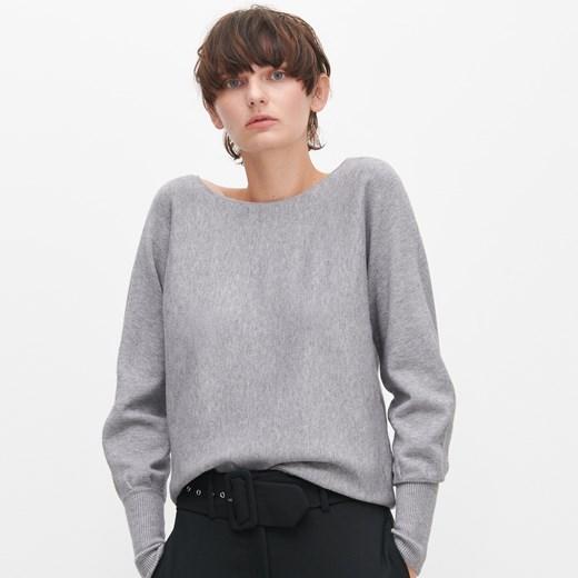 Sweter damski Reserved z okrągłym dekoltem Odzież Damska UL szary CZSR