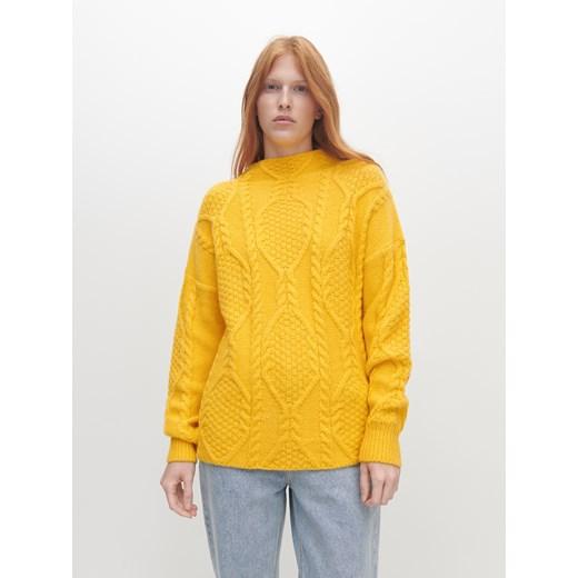 Sweter damski Reserved Odzież Damska FH żółty GQIR