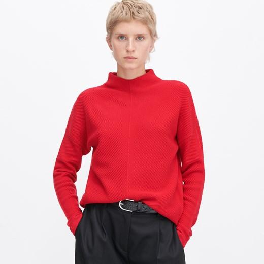 Czerwony sweter damski Reserved bez wzorów Odzież Damska WD czerwony LLKQ