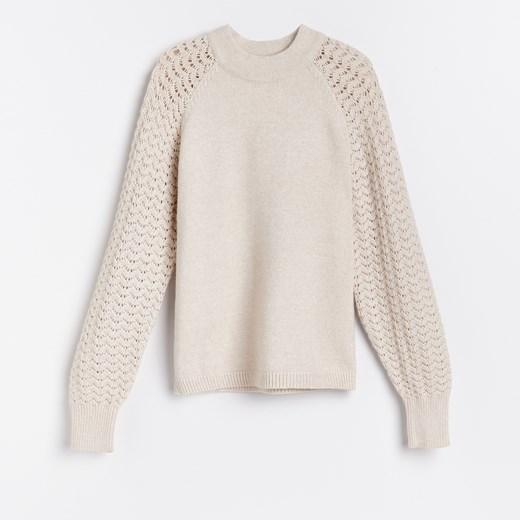 Sweter damski Reserved Odzież Damska JD beżowy KLUG