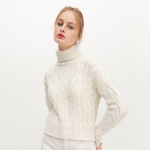 Sweter damski Reserved casual Odzież Damska SN beżowy WZDP