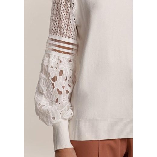 Biały Sweter Fuelcoat Renee odzież Odzież Damska PZ biały CMIG