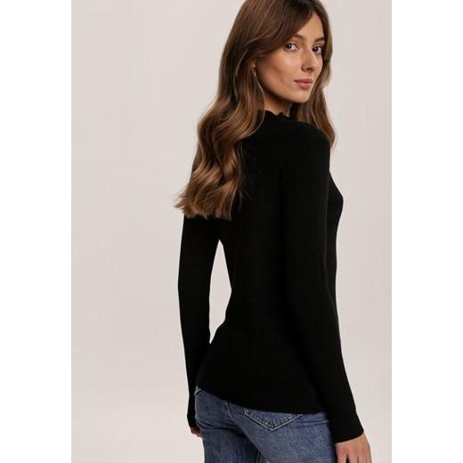 Czarny Sweter Bigtail Renee odzież Odzież Damska RI czarny GVRV