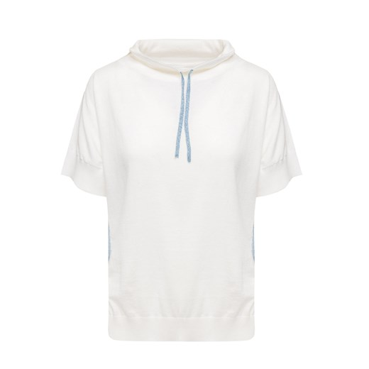 Sweter damski Deha z dzianiny Odzież Damska BF biały WRTB
