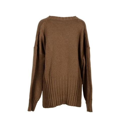 Sweter damski Parosh bez wzorów Odzież Damska GG brązowy JHCY