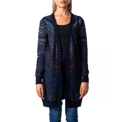 Sweter damski Desigual z dekoltem w serek Odzież Damska ZT ETIP