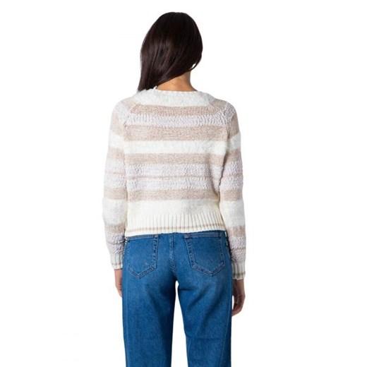 Sweter damski ONLY z okrągłym dekoltem Odzież Damska BM wielokolorowy UAEL