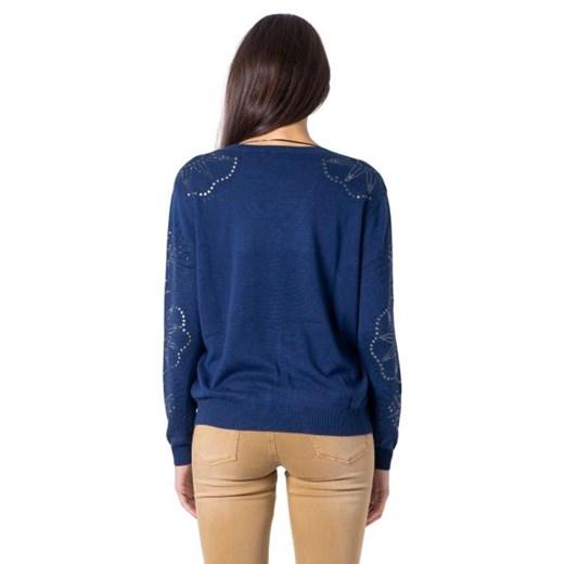 Sweter damski Desigual Odzież Damska AH niebieski TDUT