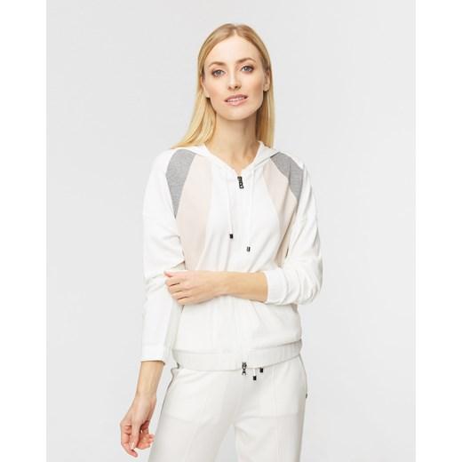 BOGNER sweter damski biały z kapturem Odzież Damska WX biały VVYU