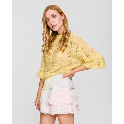 Sweter damski LoveShackFancy Odzież Damska MB żółty IWIW
