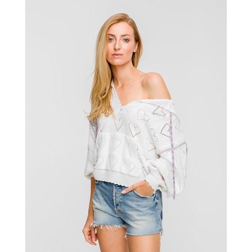 Sweter damski LoveShackFancy biały Odzież Damska QY biały AHMU